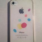 iPhoneケース 市販の透明プラスチックケース、カッティングシート 2011年