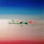 「標(しるべ)」ギャラリー檜「GALLERY HINOKI ART FAIR ⅩⅤ」出展 キャンバスにアクリルガッシュ 227×158mm(SM) 2015年7月