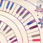 「ピアノ」ギャラリィトウキョウジョウ「えとものがたり展2」他出展 木パネルにアクリルガッシュ 273mm×190mm(P3) 2009年12月【個人蔵】