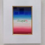 「標(しるべ)」ギャラリー檜「GALLERY HINOKI ART FAIR ⅩⅤ」展示風景 キャンバスにアクリルガッシュ 227×158mm(SM) 2015年7月