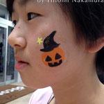 フェイスペイント「ハロウィンかぼちゃ」 2014年10月@長野県千曲市