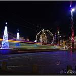 Place de Jaude, la grande roue de noël et le TRAM - Clermont-Ferrand
