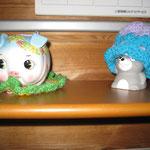 花子(左)とチュウ太(右)