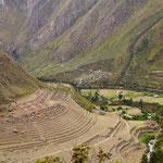 Eine der vielen Inka-Stätten, die wir entlang des Weges gesehen haben