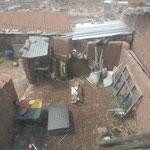 Blick auf die Küche von oben aus unserem Zimmer