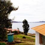 Der Blick vom Haus auf den See