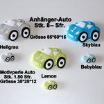 Silikon-Anhänger Rennauto