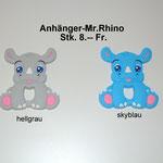 Silikonanhänger Mr.Rhino