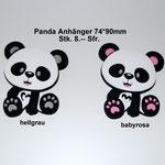 Silikonanhänger Panda