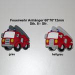 Silikonanhänger Feuerwehr