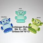 Silikonanhänger Roboter