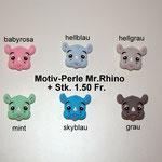 Silikonperle Mr. Rhino