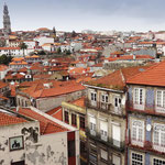 Portugal / Porto. View from Porto Cathedral. On the left, the Torre (tower) dos Clérigos.Photo © Hugues Piolet.