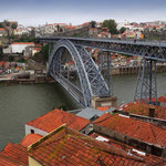 Portugal / Porto. Ponte Dom Luís I, a bridge designed by Belgian engineer Théophile Seyrig, a Gustave Eiffel's associate (1886). Photo © Hugues Piolet.