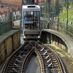 Portugal / Porto. The modern funicular dos Guindais. Photo © Hugues Piolet.