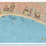 """JDD / Cannes, avec effet """"peinture"""" à partir d'une photo aérienne"""
