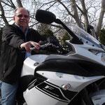 21.03.2014: Alfred Strittmatter aus Lörrach-Hauingen mit seiner neuen YAMAHA XJ6 Diversion F ABS