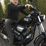 27.03.2014: Peter Rudschewski aus Grenzach-Wyhlen mit seiner neuen YAMAHA XV 950 ABS