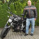 14.07.2014: Michael Jungk aus Weil am Rhein mit seiner neuen YAMAHA MT-07 ABS