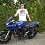 20.05.2014: Fabian Schmitz aus Steinen mit seiner YAMAHA FZ6 Fazer
