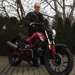 16.01.2014: Ulrich Dums aus Lörrach mit seinem neuen KYMCO K-Pipe 50