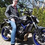 17.04.2014: Franz-Peter Wagner aus Bad Säckingen mit seiner neuen YAMAHA MT-07 ABS