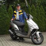 14.08.2014: Walter Enderlin aus Egringen mit seinem neuen KYMCO Vitality 50