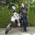 27.06.2014: Maurice Böttcher aus Ötlingen mit seiner neuen YAMAHA WR 125 X