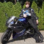 12.06.2014: Benjamin Bleile aus Freiburg mit seiner neuen YAMAHA YZF-R 125