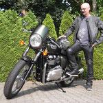 13.06.2014: Rene Egeli aus Fischingen mit seiner neuen TRIUMPH Thruxton