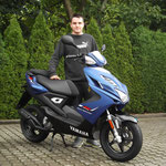 15.08.2014: Benjamin Büche aus Rheinfelden mit seinem neuen YAMAHA Aerox 50 R