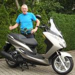 06.08.2014: Andre Lytwyn aus Lörrach mit seinem neuen YAMAHA Majesty S 125