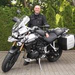 22.05.2014: Jürgen Pertermann aus Steinen mit seiner neuen TRIUMPH Tiger Explorer ABS