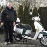 27.01.2014: Maik Görtz aus Lörrach mit seinem neuen KYMCO Like 125 LX