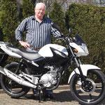 28.03.2014: Franz Schlachter aus Murg-Niederhof mit seiner neuen YAMAHA YBR 125