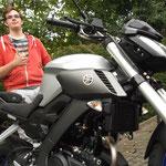 19.09.2014: Bernd Langendorf aus Kleines Wiesental mit seiner neuen YAMAHA MT-125