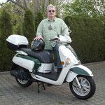 14.04.2014: Lothar Blum aus Bad Bellingen mit seinem neuen KYMCO Like 50 2T