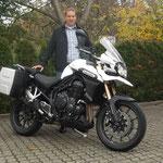 12.11.2014: Wolfgang Thoma aus Weil am Rhein mit seiner neuen TRIUMPH Explorer ABS