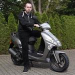 09.05.2014: Herr Zelazko aus Weil am Rhein mit seinem neuen KYMCO Vitality 50