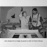 "Archives Patrice Moreau. Tirage des Gravures de Grau Garriga. Atelier Patrice Moreau. Exposition ""Viva España"". Trélazé 1999"