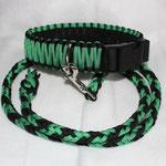 Leine aus Paracord grün schwarz