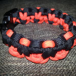 Armband Paracord orange schwarz