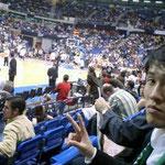 第一試合終了後。鈴木コーチも残念そう。