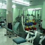トレーニングルームはクラブやトップチームの選手が利用します。