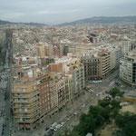 サグラダ・ファミリア内から見たバルセロナ市内。区画整備がされていてきれいな町並みでした。