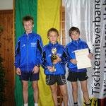Kreispokalsieger Calw Jungen U18 2007/2008  v.l.n.r. Leon Wohlbold, Mario Pachlhofer, Raphael Brakopp