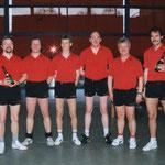 Meister Herren Kreisklasse C 1990/91  v.l.n.r. Kwapil, Elzer, A. Graef,  Trunte, E.Steeb, Pachlhofer