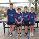Meister Jungen Kreisklasse B Nord 2009/2010 v.l.n.r. Ruben Walz, Fabian Krause, Julian Keppler, Marc Keppler