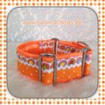 Art.Nr. Patchwork 2: orange mit großen und kleinen Punkten