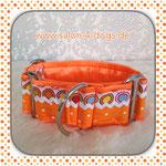 Art. Nr. Patchwork 2: orange mit großen und kleinen Punkten
